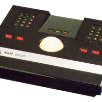 The Trak-Ball controller for the 5200, a home video game system by Atari 1982