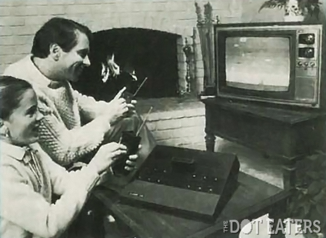 Publicity shot for the wireless 2700, an unreleased game console by Atari 1982