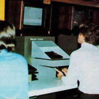 Image of 1981 Summer CES attendees, playing Atari's Remote Control VCS video game system