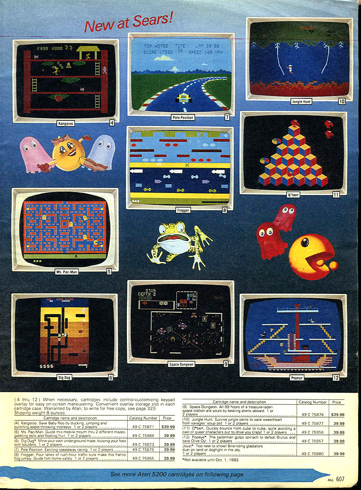 5200 games in the Sears Wishbook
