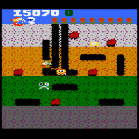Snap of Dig Dug, a home video game for the 7800 by Namco/Atari 1987