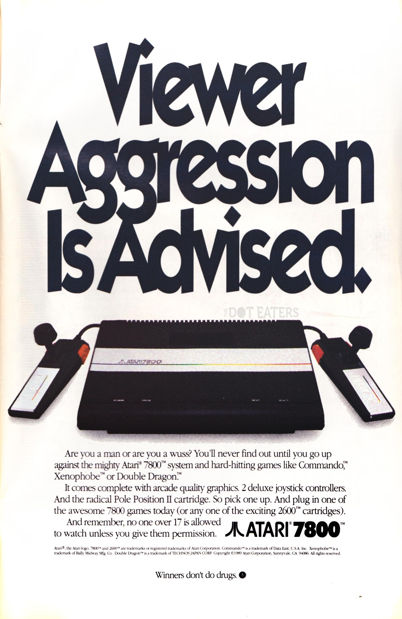 Ad for the 7800, a video game console by Atari