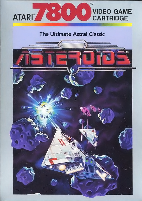 Box for Asteroids, a video game for the Atari 7800