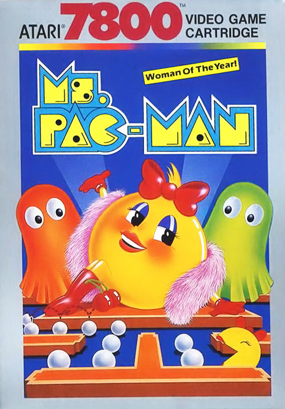Ms. Pac-Man, a video game for the Atari 7800