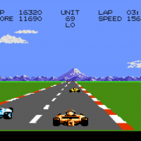 Snap of Pole Position II, a home video game for the 7800 by Namco/Atari 1987