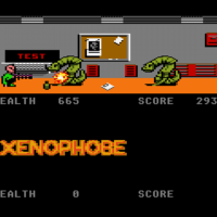 Snap of Xenophobe, a home video game for the 7800 by Bally-MidwayAtari 1989