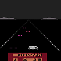 Snap of Enduro, a video game by Activision for the Atari VCS/2600 1983