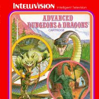 Art for Advanced Dungeons & Dragons cartridge, a video game for the Intellivision by Mattel