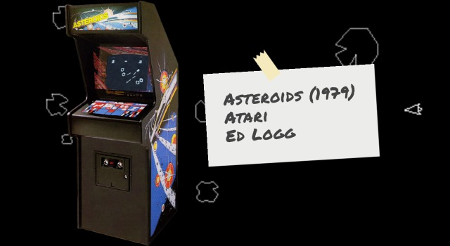 Cabinet for arcade video game Asteroids by Atari
