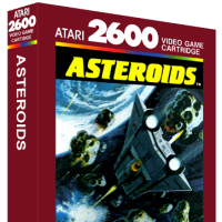Asteroids, a video game for the Atari 2600 video game console