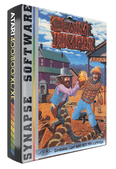 Claim Jumper, a Gun Fight-type game by Synapse Software for the Atari 8-bit home computer