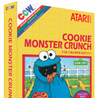 Cookie Monster Crunch, a video game for the Atari 2600 video game console