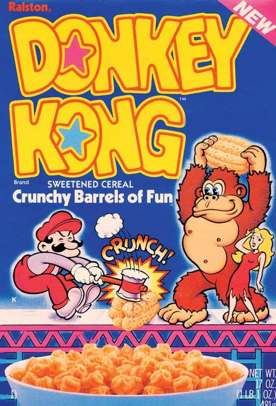 Breakfast cereal based on Donkey Kong, an arcade video game by Nintendo 1981