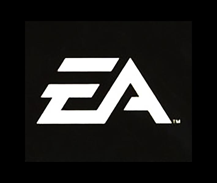 Modern logo for EA, a video game company