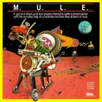 Cover for M.U.L.E., a computer game by Ozark Softscape/Electronic Arts 1983