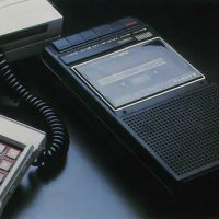 Example of a tape cassette recorder that can be used with ECS, a home computer addon for the video game console Intellivision
