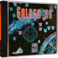 Galaga '90, a video game for the Turbografx-16 video game system