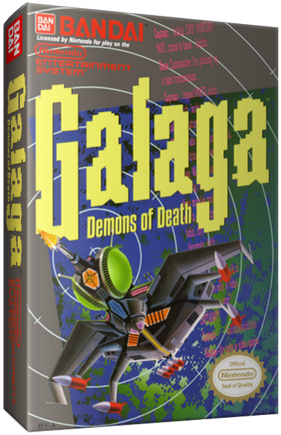 Galaga: Demons of Death, a video game for the NES video game console