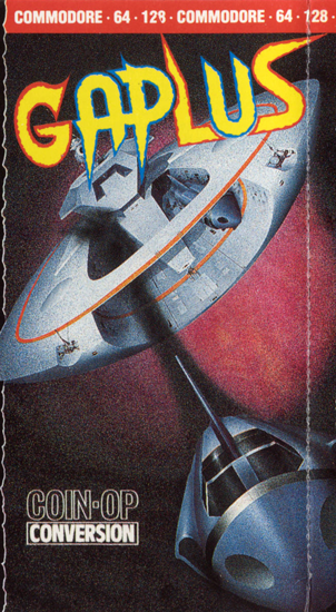 Gaplus, a Galaga sequel video game for the Commodore 64 home computer