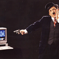Magazine spread featuring the IBM PC jr. personal computer 1984