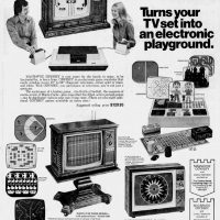 Newspaper ad for the Magnavox Odyssey, the original home video game console