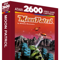 Moon Patrol, a video game for the Atari 2600 video game console
