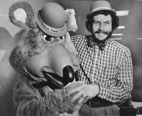 Image of Nolan Bushnell and Chuck E. Cheese, 1978