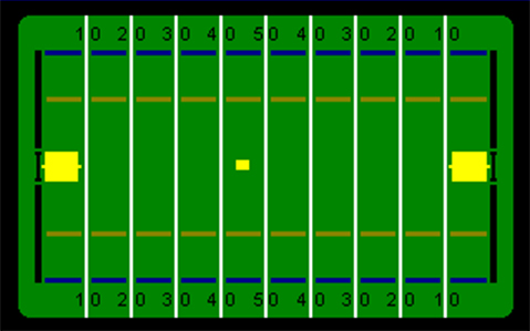 Image of Odyssey football overlay, paddles and ball