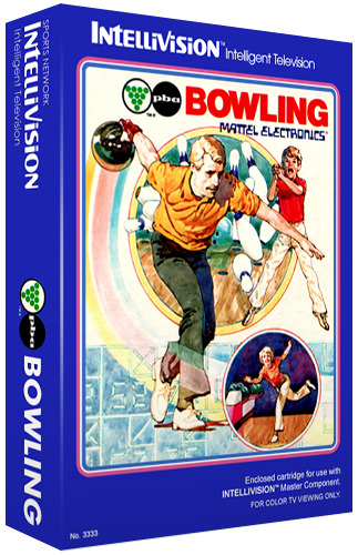 PBA Bowling, a sports video game for the Mattel Intellivision video game system