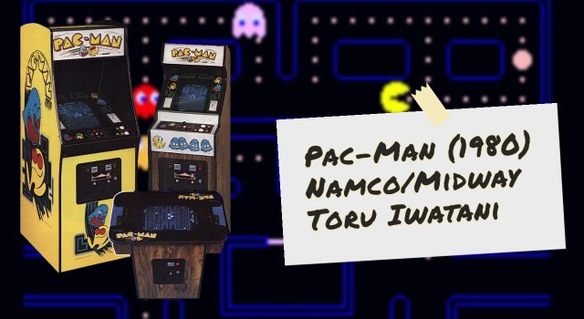 Cabinets and details for Pac-Man, an arcade video game by Namco and Midway
