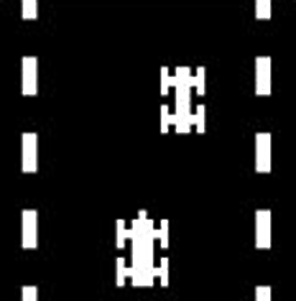 Freeway, a game for the Channel F by RCA 1976