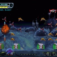 Gameplay image for the N64 version of Space Invaders, a video game by z-Axis/Activision