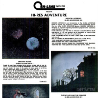 Ad for games by On-Line Systems, later known as Sierra On-line, a computer video game company, 1981