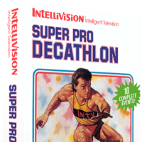 Super Pro Decathlon, a sports video game for the Intellivision video game console