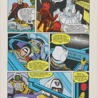 Page from the Marvel Comics adaptation of The Last Starfighter, a video game themed movie by Universal 1984