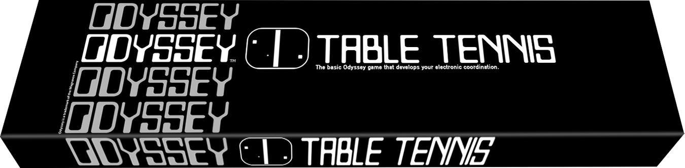 Table Tennis, a video game for the Magnavox Odyssey, first home video game system