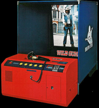 Wild Gunman, a coin-operated game designed by Gunpei Yokoi for Nintendo, 1974