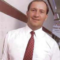 1988 image of Bruce Davis, CEO of Mediagenic/Activision, a video game company