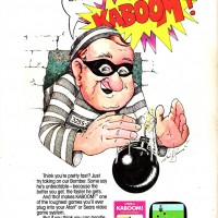 Ad for Activision's Kaboom!, a video game for the Atari VCS/2600 1981