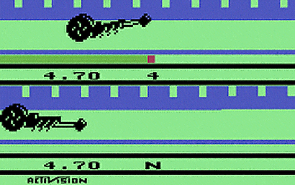 Image of Dragster, a video game for the Atari VCS/2600 1980