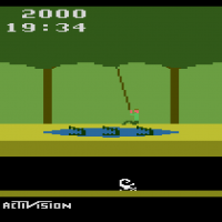Pitfall, a video game for the Atari VCS/2600 home video game console 1982