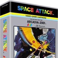 Space Attack, a video game for the Arcadia 2001 video game console