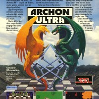 Ad for Archon Ultra, a computer video game featuring online play