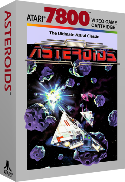 Asteroids, a video game for the Atari 7800 video game console