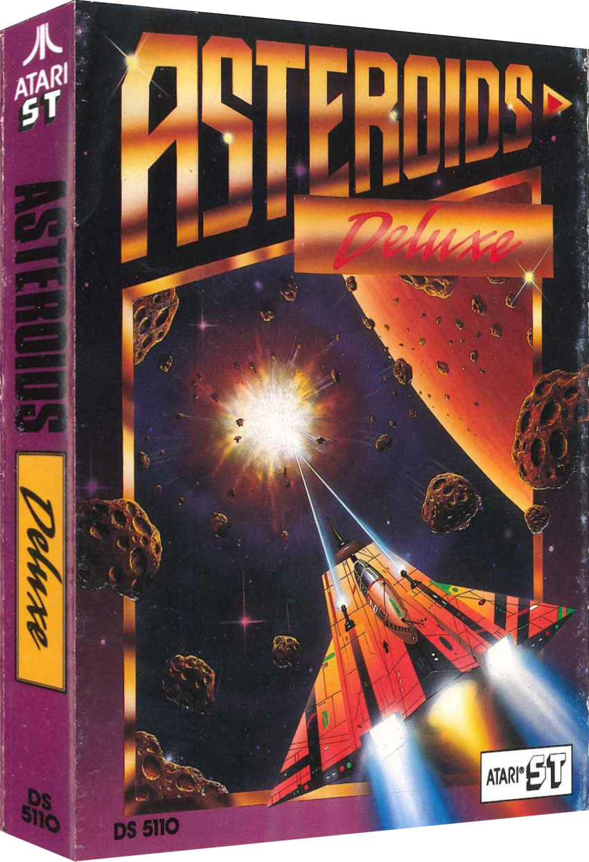 Asteroids Deluxe, a computer video game for the Atari ST personal computer