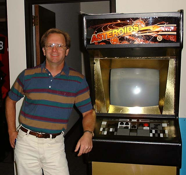Image of Ed Logg, designer of 1979 Atari arcade video game Asteroids