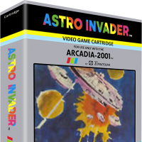 Astro Invader, a home video game for the Arcadia 2001 video game console