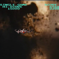 Still from Astron Belt, an arcade laserdisc game by Sega 1983