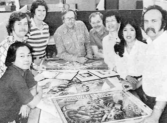 Image of the Graphics Team for Atari, a video game company