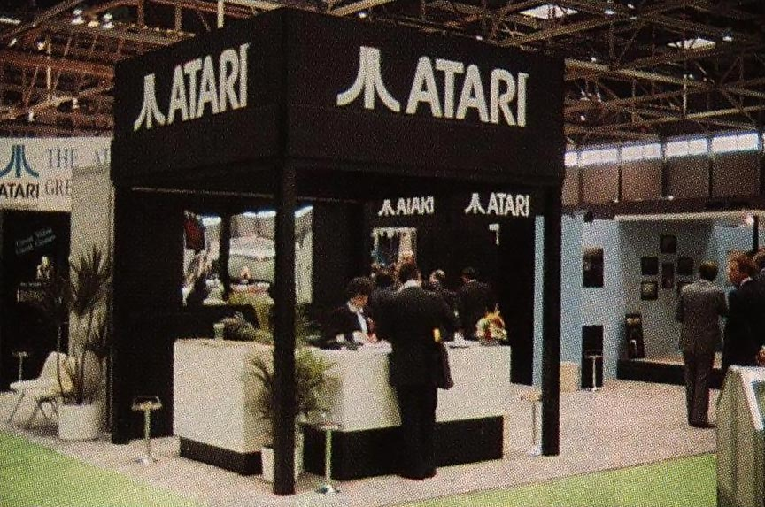 1989 CES booth for Atari, a video game company
